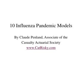 Pandemic Models