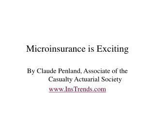 Microinsurance PowerPoint Presentation