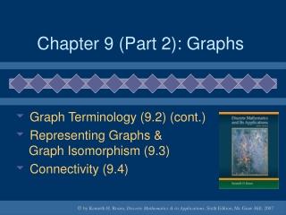 Chapter 9 (Part 2): Graphs