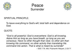Peace Surrender