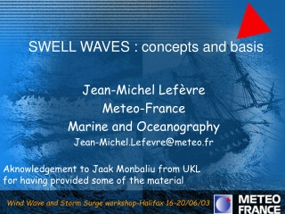SWELL WAVES : concepts and basis