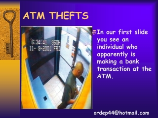 ATM THEFTS