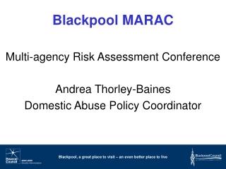 Blackpool MARAC