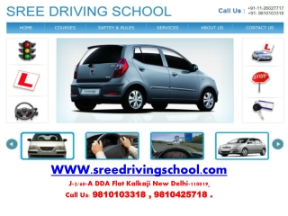 driving school in delhi, motor training school delhi