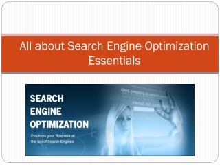 All about Search Engine Optimization Essentials