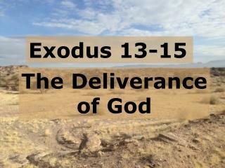 Exodus 13-15