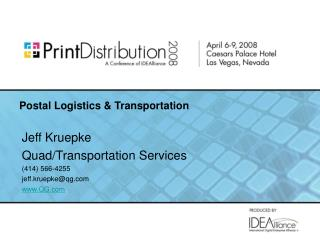 Postal Logistics & Transportation