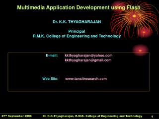 Multimedia Application Development using Flash
