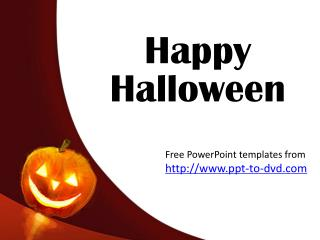 Free Halloween PowerPoint Templates