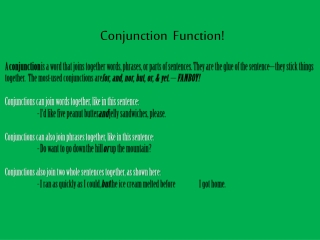 Conjunction  Function!