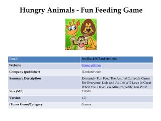 Hungry Animals - Fun Feeding Game