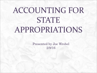 Accounting for state appropriations