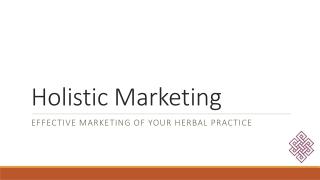 Holistic Marketing