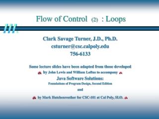 Flow of Control   (2)   : Loops