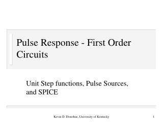 Pulse Response - First Order Circuits