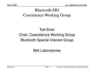 Bluetooth SIG Coexistence Working Group