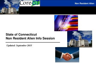 State of Connecticut  Non Resident Alien Info Session