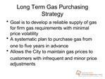 Long Term Gas Purchasing