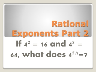 Rational  Exponents Part 2