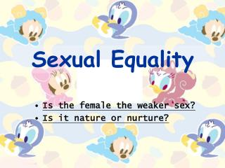 Sexual Equality