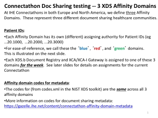 Connectathon Doc Sharing testing -- 3 XDS Affinity Domains