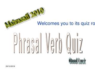 Phrasal Verb Quiz