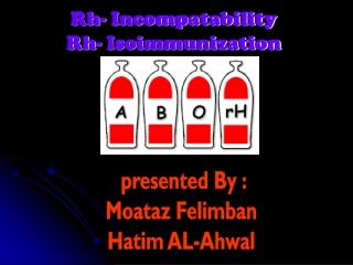 Rh- Incompatability Rh- Isoimmunization