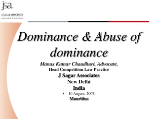 Dominance & Abuse of dominance