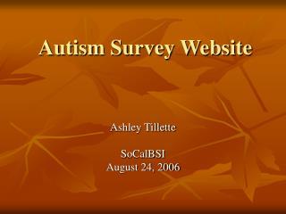 Autism Survey Website