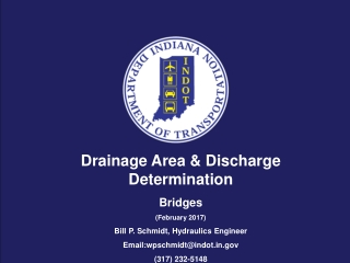 Drainage Area & Discharge  Determination Bridges (February 2017)