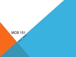 MCB 151