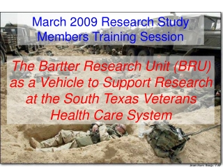 March 2009 Research Study Members Training Session