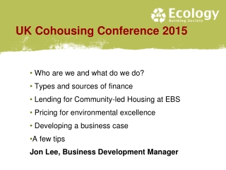 UK Cohousing Conference 2015