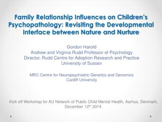 Gordon Harold Andrew and Virginia Rudd Professor of Psychology