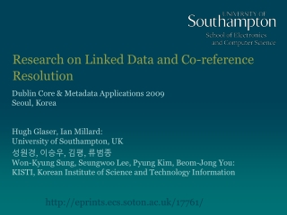 Research on Linked Data and Co-reference Resolution
