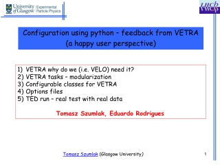 Configuration using python – feedback from VETRA (a happy user perspective)