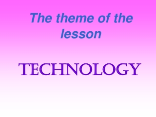 The theme of the lesson