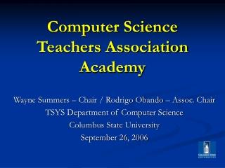 Computer Science Teachers Association Academy