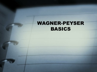 WAGNER-PEYSER BASICS