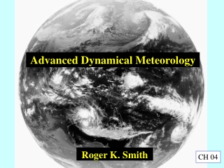 Advanced Dynamical Meteorology