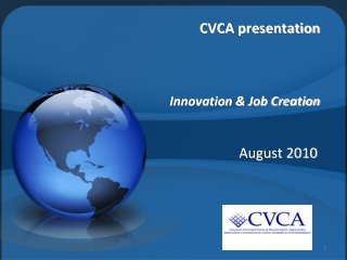 CVCA presentation  Innovation & Job Creation