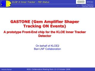 GASTONE (Gem Amplifier Shaper Tracking ON Events)