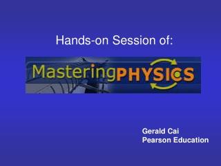 Gerald Cai  Pearson Education