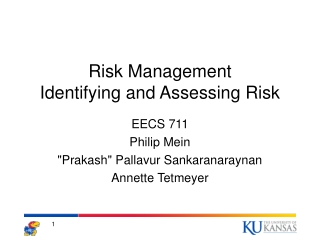 Risk Management Identifying and Assessing Risk