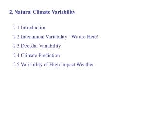2. Natural Climate Variability