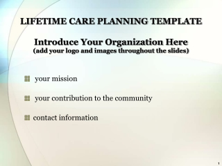 your mission  your contribution to the community contact information