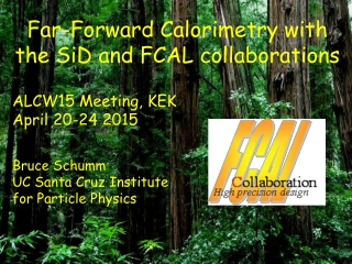 Far-Forward Calorimetry with the SiD and FCAL collaborations  ALCW15 Meeting, KEK April 20-24 2015