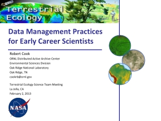 Data Management Practices for Early Career Scientists