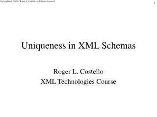 Uniqueness in XML Schemas