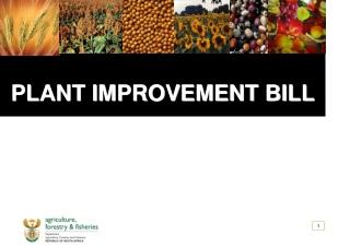 PLANT IMPROVEMENT BILL